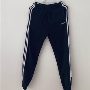 cuffed adidas track pants